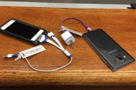Charging your device at the West Library