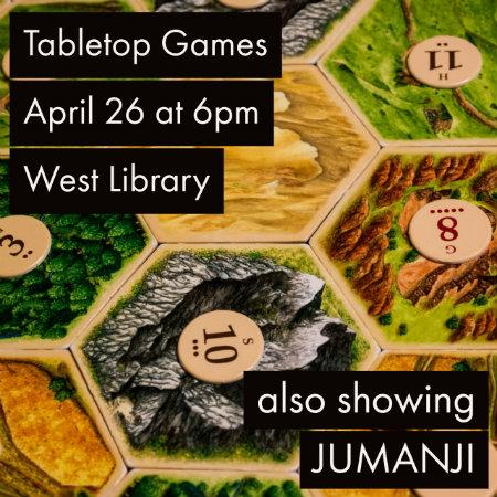 Tabletop game night April 26